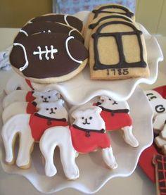 UGA themed cookies