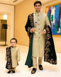 The latest dress trends for the latest new fashion trends, outfit ideas, celebrity style, designer news and runway looks. Sherwani For Men Wedding, Wedding Dresses Men Indian, Groom Wedding Dress, Indian Dresses, Indian Outfits, Sherwani Groom, Bride Groom, Mens Wedding Wear Indian, Wedding Suits