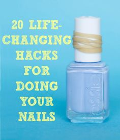 20 Life-Changing Hacks for Doing Your Nails - Spray PAM to dry your nails, use glue to remove glitter polish, and more!