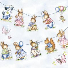 Phoenix Trading Little Woodland Animals Bunting. 20 bunnies with 4 metres of blue ribbon - per pack Woodland Baby, Woodland Animals, Stationery Companies, Blue Ribbon, Bunting, Flamingo, Stationary, Greeting Cards, Baby Shower