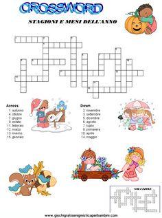 crossword_mesi enigmistica in inglese