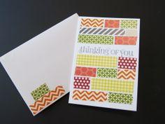Washi Tape Greeting Cards - Stampin' Up!
