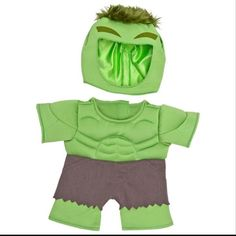 71855fd9d67 Dress up a teddy bear or stuffed animal in the Hulk Costume 2 pc. from Build -A-bear Workshop to make a fun gift for kids or adults.