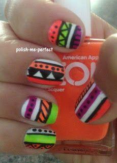 Polish Me Perfect: Neon Tribal Print