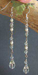 long crystal earrings tutorial