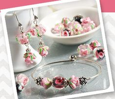 Beautiful Floral Lampwork beads are perfect for spring and summer!