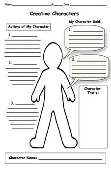 Character Traits Map - Perfect to pair with Close Reading and citing evidence when analyzing the character.