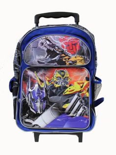 Transformers Autobots Roll Out Large 16 Rolling Backpack Roller ...