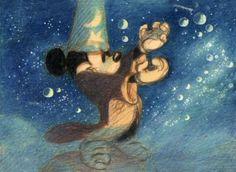 Storyboard from the Sorcerer's Apprentice (Fantasia)
