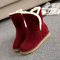 Women's Shoes Round Toe Low Heel Mid-Calf Boots More Colors avaliable - JPY ¥ 2,597