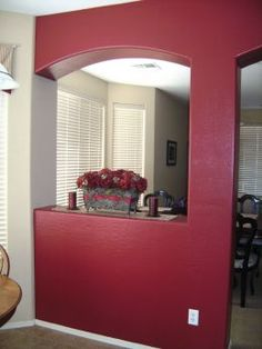 enchanting kitchen red accent wall | Create drama in a kitchen by using Bolero (SW 7600) as an ...