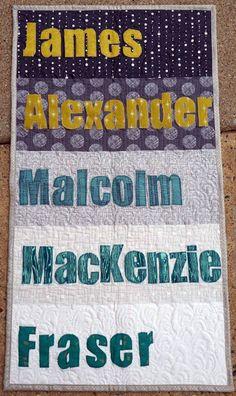 Quilty Habit: Outlander Swap: JAMMF Mini Quilt and Cross-stitch - James Alexander Malcolm MacKenzie Fraser