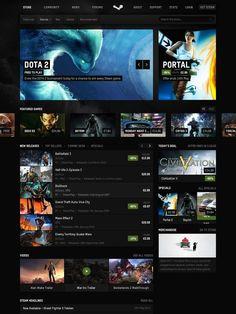 Steam redesign | #web #design #redesign #webdesign #steam #games #steampowered #store