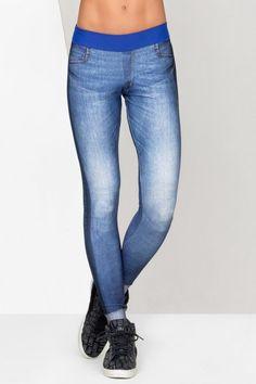 Calça Fusô Amazing Denim • LIVE! • #shoponline #fitness #legging #jeans