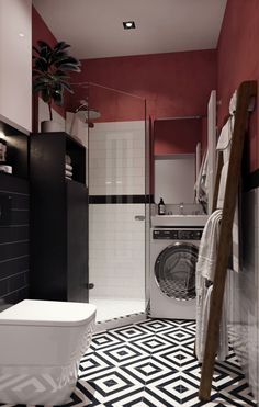 SMALL BATHROOM IDEAS - Having a small bathroom does not mean you can't make it appealing. It is true that a small bathroom may not have as many design. Burgundy Walls, Burgundy Decor, Burgundy Living Room, Red Burgundy, Red Walls, Dark Red, Burgundy Room, Burgundy Paint, Burgundy Bathroom