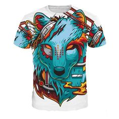 Women's 3d Print Animation T shirts Multiple Designs on Fire