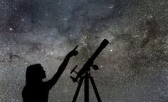 Girl Looking At The Stars. Telescope Milky Way Stock Photo - Image of gazing, nature: 99781870 Astronomical Events, Sky Watch, Look At The Stars, Astrophysics, Milky Way, Stargazing, Night Skies, The Dreamers, Cute Pictures