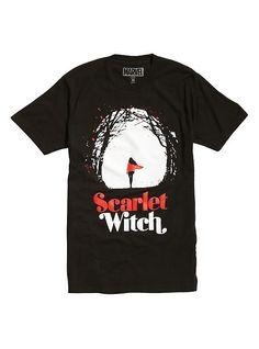 Marvel Scarlet Witch Forest T-Shirt, BLACK