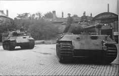 Several Panther Ausf A tanks operating in France during 1944