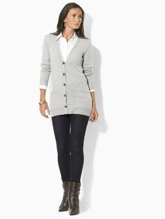 """Cashmere Cardi """"Katiana"""" from Ralph Lauren orig. $279.00 now $99 avail. in blue, grey, lavender and white"""