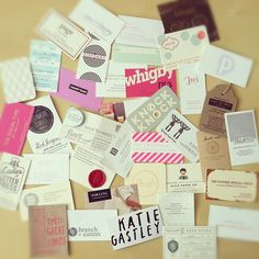 Great collection of business cards via Instagram
