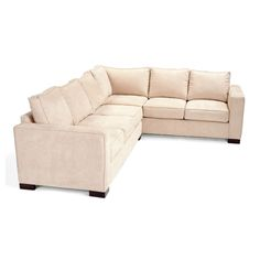 With its neutral tone and its clean modern lines, the JAR Designs 'Camden' 2-piece sectional will add comfort and style to your living or family room. This stylish piece also offers a stunning buckwheat color upholstery.