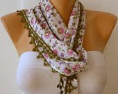 fatwoman-Lace scarves - on Etsy $13.50