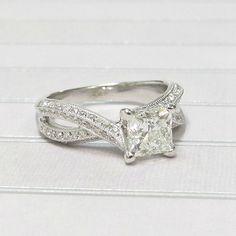 Princess Cut Diamond in White Gold