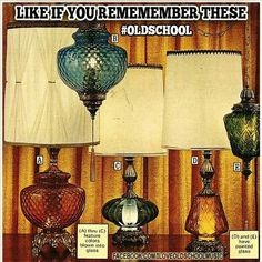 My parent had (C). Loved that lamp.