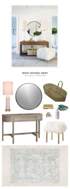 Copy Cat Chic Room Redo | White Textural Entry | | Copy Cat Chic | chic for cheap | Bloglovin'
