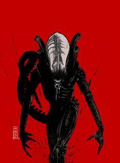 "xombiedirge: ""Xenomorph by Gilles Vranckx / Blog """