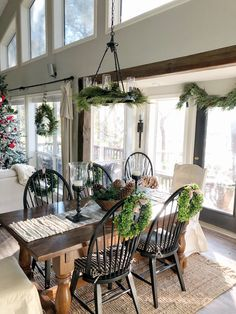 Welcome To My Christmas Home Tour * Hip & Humble Style Christmas Home, Christmas Kitchen, Christmas Decor, Dining Room Table, Wood Table, Interior Design Living Room, Great Rooms, House Tours, Farmhouse Decor