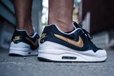 Nike Air Max Light - Black/White/Gold (by Jza...