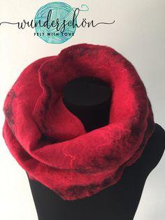 FELTED merinos wool SCARF The Rose 100% handmade | Etsy