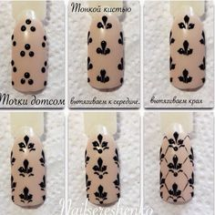 Fleur de Lys Nail Art design Tutorial | step by step DIY nails