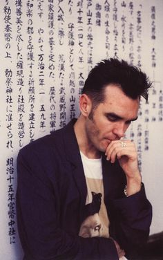 Morrissey in Japan (1991) ― photo by Kevin Cummins.