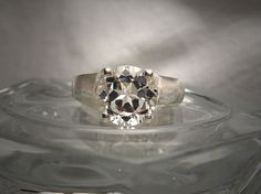 Natural White Topaz 9mm Round Sterling Silver Tulip Design Solitaire Ring Made to Order by ShantasticJewelry on Etsy https://www.etsy.com/listing/232491868/natural-white-topaz-9mm-round-sterling