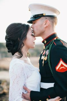 Pinner: From our wedding day ❤ I love my Jay forever and always Military Wedding Pictures, Military Couple Pictures, Army Wedding, Military Couples, Military Love, Military Ball, Army Love, Navy Military Weddings, Military Photos