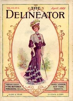 A cover gallery for Delineator Vintage Advertisements, Vintage Ads, Vintage Images, Vintage Dress, Vintage Clothing, Old Magazines, Vintage Magazines, Fashion Illustration Vintage, Illustration Art