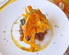poisson en papillotes et ses tagliatelles de carottes maison