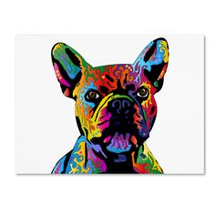 Trademark Fine Art Michael Tompsett 'French Bulldog' Canvas Art