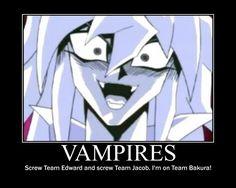 I'm on team no one!  If bakura's a vampire I'm gone! I'm done! XD