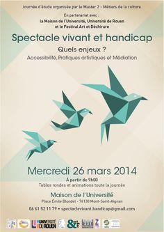 Spectacle vivant et handicap, quels enjeux ?. Le mercredi 26 mars 2014 à Mont-Saint-Aignan.