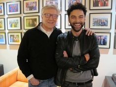 Super pic of the original and new Poldarks together #TheOneShow #RobinEllis #AidanTurner Thanks to @RobinPoldark fb
