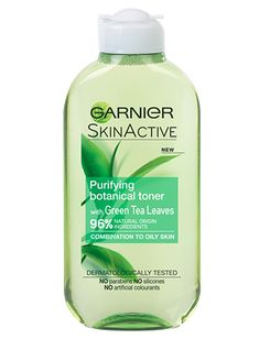 Garnier's first toner made of 96% ingredients of natural origin, enriched with Green Tea Extract, known for its purifying powers. It removes make up residue and impurities whilst toning your skin and leaving it feeling beautifully purified.