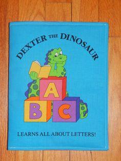 Dexter the Dinosaur Children's Cloth Book by CraftingByTheWayside