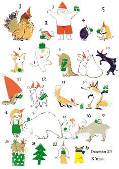 christmas Concept Draw, Cute Characters, Cute Illustration, Fantasy Art, Cute Animals, Doodles, Kids Rugs, Kawaii, Drawings