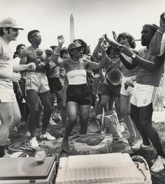 "Crowd dances to the Caribbean music during the ""Caribbean Summer in the Park,"" July 17, 1983"