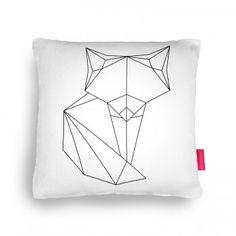 Brujita origami fox Cushion