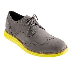 LunarGrand Wingtip - Men's Shoes: cole haan in charcoal grey suede